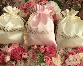 Bridesmaid Satin Gift Bag