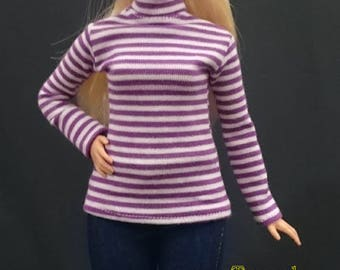 Dolls top for CURVY barbie No.180115-23