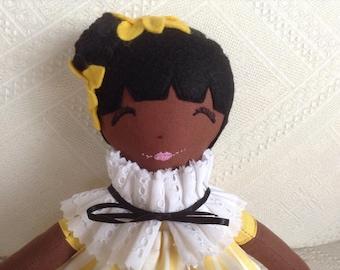 Handmade doll, collectable doll, decorative doll, rag doll, cloth doll, keepsake doll