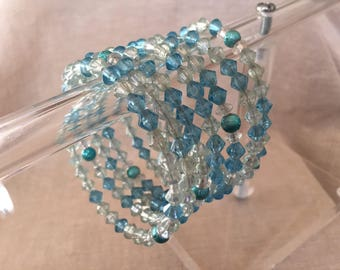 Turquoise Memory Wire Bangle