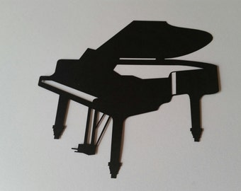 Piano Die Cut Sillouhette ( Scrap Booking, Embellishments, Music Decor )