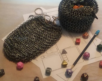 Large Chainmaille Dice Bag