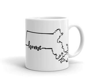 Massachusetts Home State - Coffee Mug
