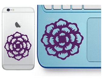 Flower Decal - Blooming Flower Decal - Laptop Decal - Cell Phone Decal - Laptop Sticker - Car Decal - Tumbler Decal