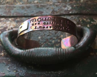 Mountains are calling and I must go bracelet