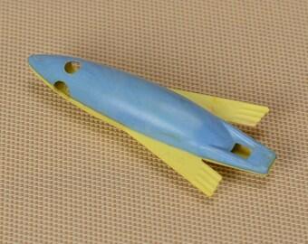 Vintage whistle, Soviet toy, Plastic Rocket, Toy Whistle, Toy Rocket, Plastic toy, Plastic Whistle, Children's toy, souvenir whistle.