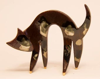Ceramic Cat Sculpture....