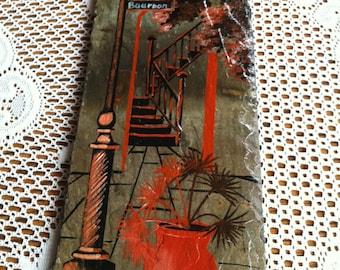 A Hand Painted Tile Art Of Bourbon Street New Orleans By Vivian E Laiche
