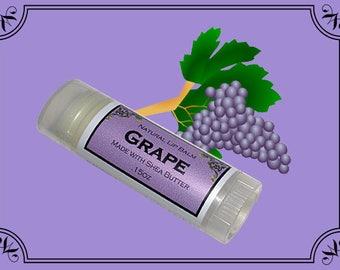 GRAPE Lip Balm made with Shea Butter - .15oz Oval Tube
