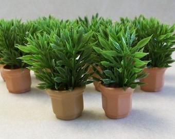 Paar Miniatur Deko Gras Pflanzer für Märchen oder Miniaturgärten und Terrarien