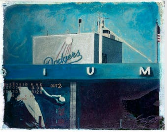 MLB LA Dodger Tower Polaroid Transfer 8x10 download