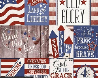 On Sale 50% Stars and Stripes Patriotic July 4th Pocket Scrap Card, Elements and Embellishments Kit for Digital Scrapbooking