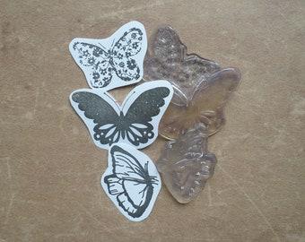 Destash Occasion birdcage animals three Butterfly clear stamp