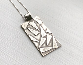 Abstract Silver Pendant #1