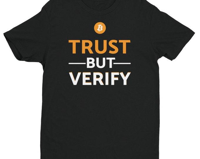 Bitcoin - Trust But Verify Shirt | Nerd Shirt | Cryptocurrency Shirt | HODL