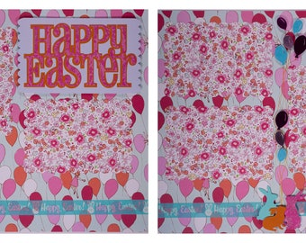 Pre-made Scrapbook Pages: Happy Easter #14
