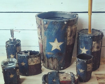 Texas flag bathroom set
