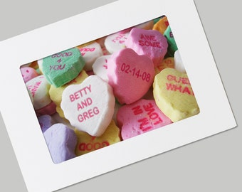 Personalized Sweethearts FRAMABLE Photo Folded Card with Envelope, You CHOOSE the Names, Unique Wedding, Anniversary Gift