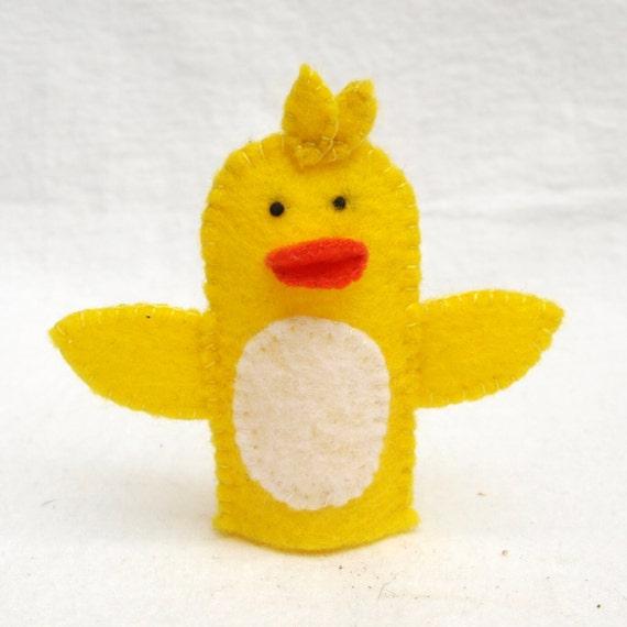 Fieltro marioneta de dedo pato marioneta animal marionetas