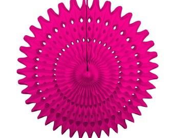 "21"" Hot Pink Tissue Paper Fan - Wedding, Nursery, Baby Shower, Bridal, Backdrop, Photoshoot"