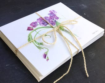 Garden inspired greeting cards - set of 8