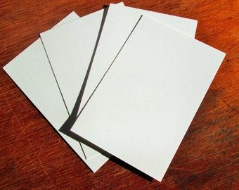 4 x 6 White Blank Postcards 100 lb Smooth Bristol Paper High Quality Art Tiles Postcard Blanks