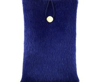 Blue Fur Ipad Case, Book Case, Ipad Mini Case, Blue Ipad Case, Fur Ipad Case, Ipad Mini Case, Ipad Fabric Case, Ipad cover,boho ipad case