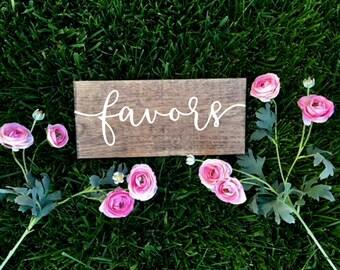 Wedding Favors Sign, Wood Favors Sign, Rustic Wood Sign, Treat Sign Table, Woodland Wedding Sign, Wedding Sign, Reception Sign