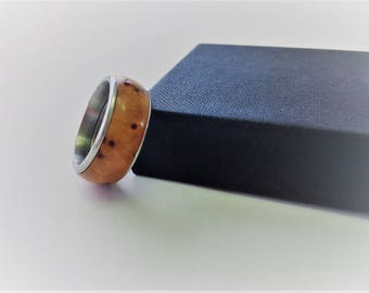 Stainless steel ring from Thuja Maser