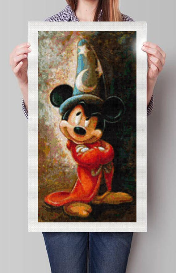 Cross sitich pattern modernbMickey Mouse Fantasía .PDF download ...
