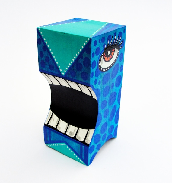 Funk Totem Part No. 170 - Original Mixed Media Block - Vol. 7