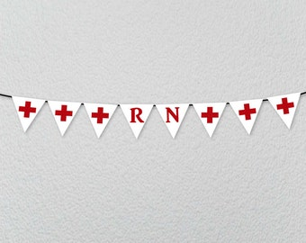 RN Banner BSN Cna NP Party Banner Decoration for Nurses Graduation Party, Grad from Nursing School College