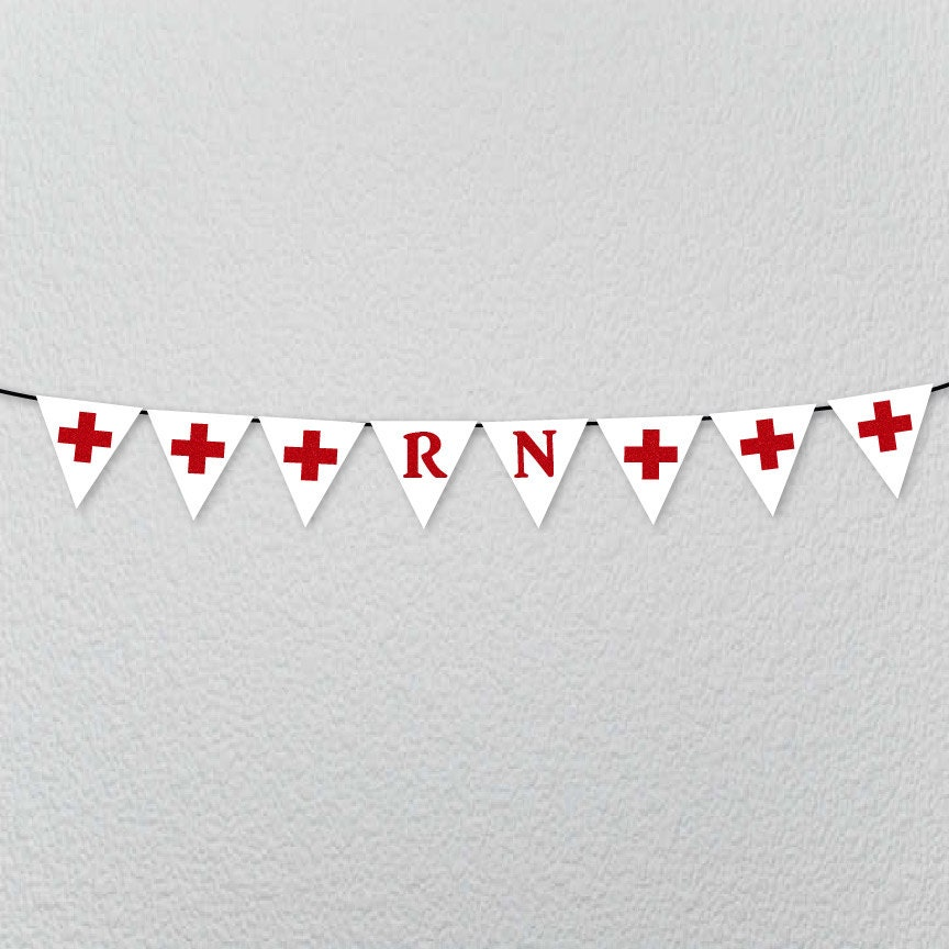 RN Banner BSN Cna NP Party Banner Decoration for Nurses