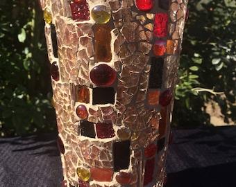 Geometric fluted vase