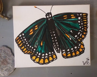 Distinguished Green Butterfly