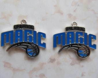 Orlando Magic Logo NBA Basketball Dangle Charms - 2pcs