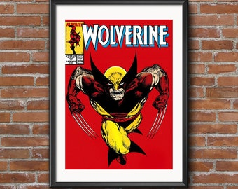 Wolverine Comic Book Cover Poster 11x17 or 24x38