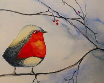 Thick Bird in winter
