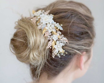 Bridal hair comb - Sugary sweet floral headpiece - Style 766 - Made to Order
