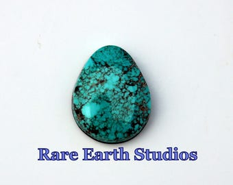 Rare Indian Mountain Turquoise Cabochon Natural Stone  60517001 34cts