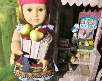 Farmer's Market Fruit Bundle and Apron for American Girl Dolls