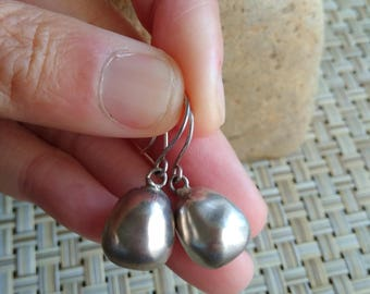 Traditional Handmade Pure Silver Earrings from Tribe Miao