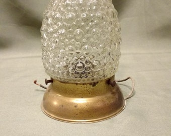 Vintage Acorn Ceiling Light  Shade and Fixture