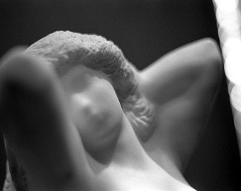 Romantic Marble Statue // Black & White Fine Art Film Photography // Wall Art // Photo Print