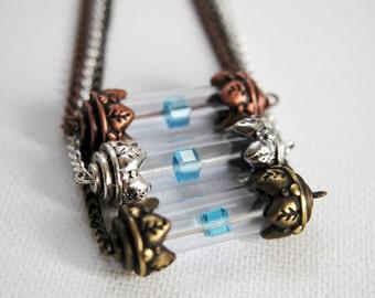 BACKORDER -- Tesseract Necklace -- The Avengers Inspired - LOKI - Unlimited Power - Swarovski Crystal -- Avengers