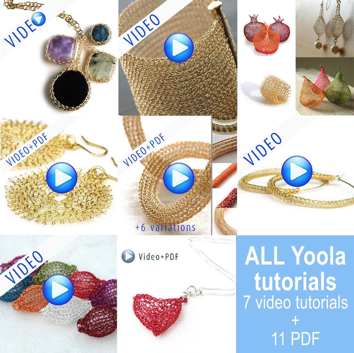 Jumbo Yoola Crochet jewelry making tutorials online video