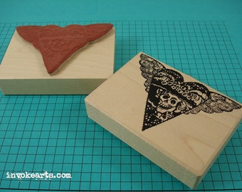 Catrina Heart Stamp / Invoke Arts Collage Rubber Stamps