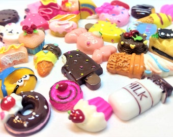 20pc Sweets and Treats Flatback Kawaii Cabochon Supplies Decoden iPhone Case Deco Decoration