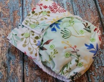 One Size AI2 Cloth Diaper Springtime Songbirds 15-40 lbs All in Two Limited Edition PUL