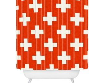 Vermillion Plus Shower Curtain